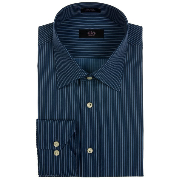 Alara Blue Pin Stripe Dress Shirt