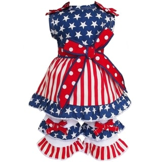 Ann Loren 2-piece 4th of July Stars and Stripes Outfit for 18-inch Dolls