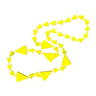 SportBeads Yellow Cheese Sport Team Necklace