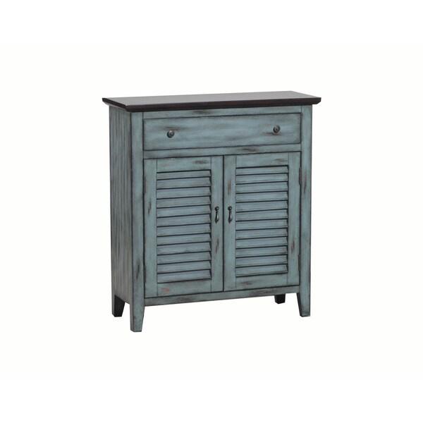 Powell Antique Shutter Door Cabinet