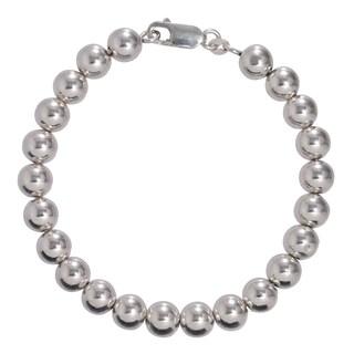 Karizia Italian Sterling Silver Polish Bead Bracelet