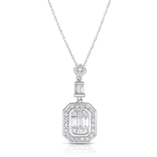Eloquence 14k White Gold 1/2ct TDW Diamond Necklace (H-I, SI1-SI2)