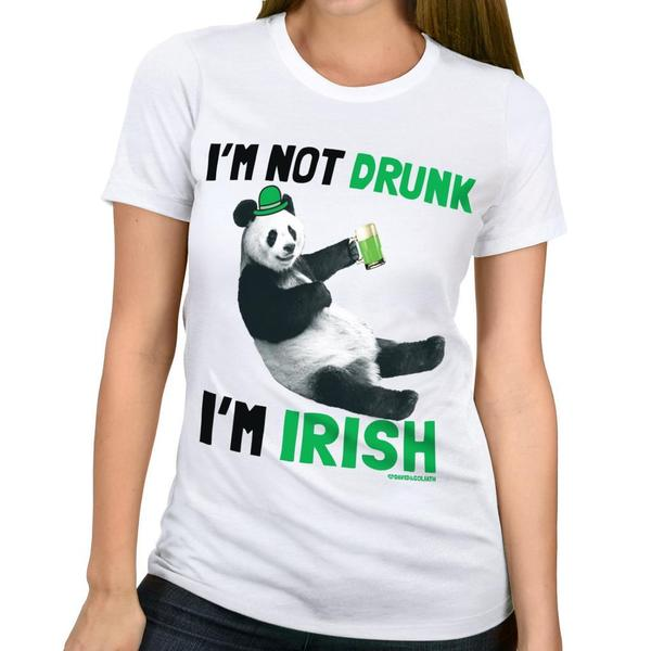 David & Goliath 'Drunk Panda' Women's Graphic Tee T-shirt