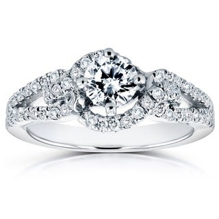 Annello 14k White Gold 4/5ct TDW Round Diamond Engagement Ring (H-I, I1-I2)