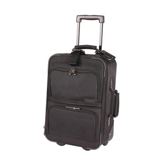 Bond Street 21-inch Carry Rolling Upright 15.4-inch Laptop Compartment Suitcase
