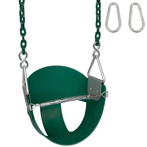 Swing Set Stuff Highback 1/2 Bucket Swing Seat with 5 1/2 ft Coated Chain