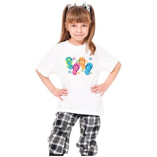 Youth 'Sandals' Print Cotton T-shirt