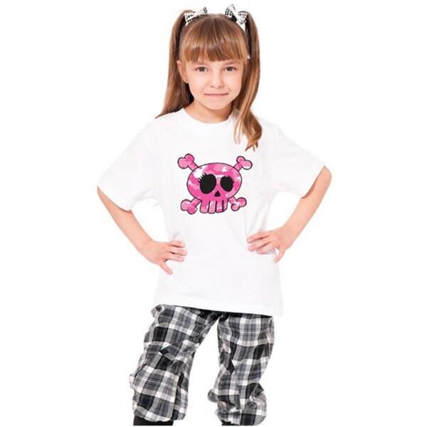 Youth 'Pink Skull' Print Cotton T-shirt