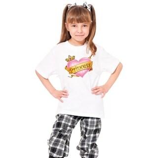 Youth 'Princess' Print Cotton T-shirt