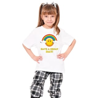 Youth 'Have a Great Day' Print Cotton T-shirt