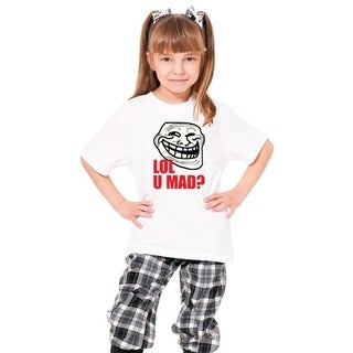 Youth 'Lol U Mad' Print Cotton T-shirt
