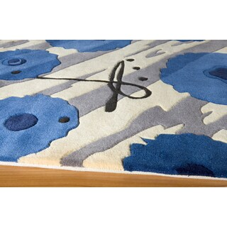 Koi Blossom Hand-tufted Wool Area Rug (5'3 x 8')