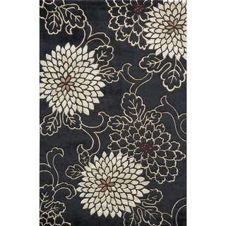 Koi Chrysanthemum Hand-tufted Wool Area Rug (5'3 x 8')