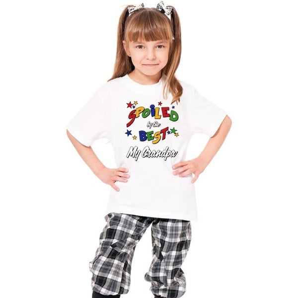 Youth White Printed 'Spoiled By The Best' Cotton T-shirt