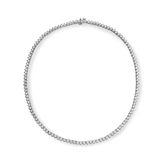 SummerRose 18k White Gold 13 2/3ct TDW Diamond Tennis Necklace (G-H, VS2)