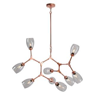 Revwil Lazio 9-light Copper Ceiling Fixture