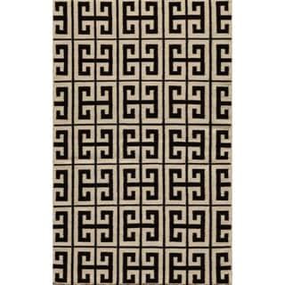 Mersa Links Reversible Flat Weave Wool Dhurrie Area Rug (5' x 8')