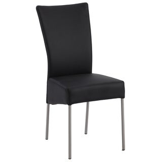 Christopher Knight Home Zendaya Black Upholstered Modern Side Chair (Set of 4)