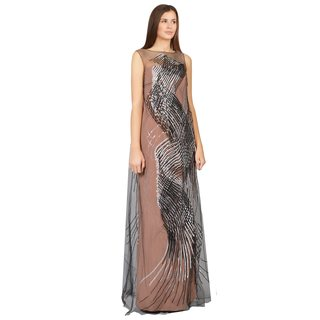 Carolina Herrera Women's Crepe Swirl Strapless Tulle Evening Gown