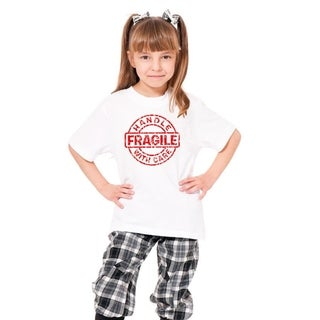 Youth 'Fragile Handle Care' Print Cotton T-shirt