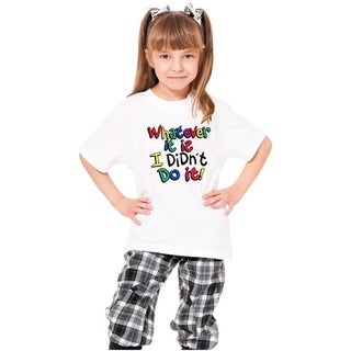Youth 'Whatever It Is I Didn'T Do It' Print Cotton T-shirt