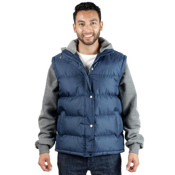 Rock Revolution Men's Two Tone Hooded Jacket with Pockets