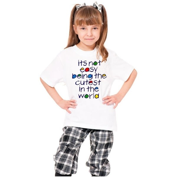 Youth White Printed 'It'S Not Easy Being The Cutest In The World' Cotton T-shirt