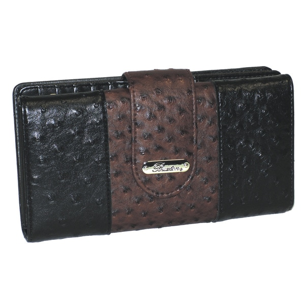 Buxton Ostric-Embossed Pop Go To Superwallet