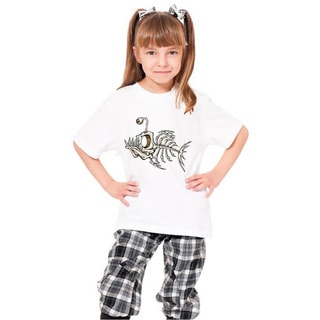 Youth White 'Fish Skeleton' Print Cotton T-shirt