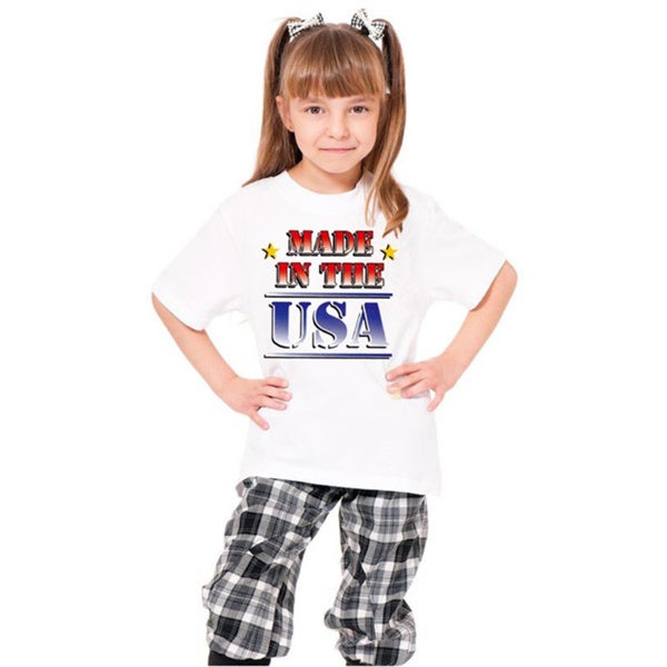 Youth White Nationality Printed Cotton T-shirt