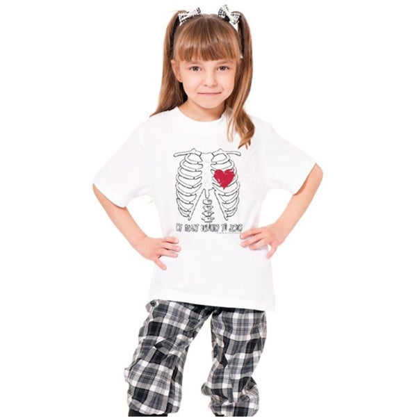 Youth White 'My Heart Belongs To Jesus' Print Cotton T-shirt