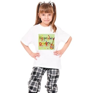Youth White 'My Grandma Rocks' Print Cotton T-shirt
