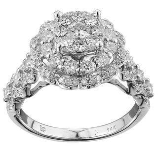 14k White Gold 1 1/4ct. TDW White Diamond Ring (G-H, SI1-SI2)