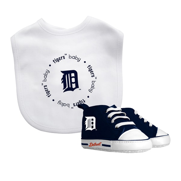 Baby Fanatic Detroit Tigers Bib and Pre-walker Baby Shoes Gift Set