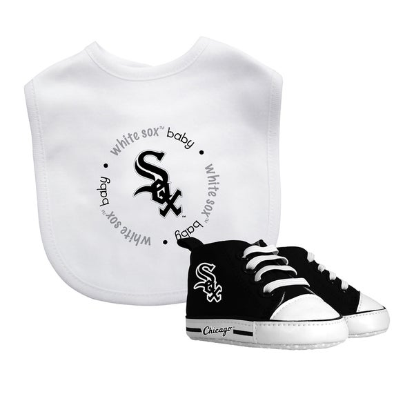 Baby Fanatic Chicago White Sox Bib and Pre-walker Shoes Gift Set
