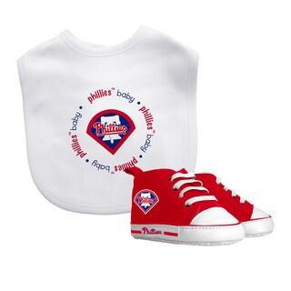 Baby Fanatic Philadelphia Phillies Bib and Pre-walker Shoes Gift Set