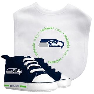 Baby Fanatic Seattle Seahawks Bib and Pre-walker Shoes Gift Set