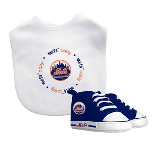 Baby Fanatic New York Mets Bib and Pre-walker Shoes Gift Set