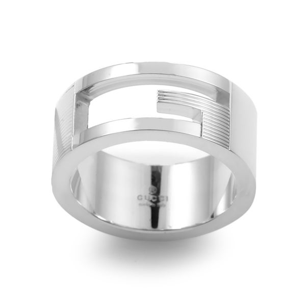 Gucci G Sterling Silver Cut-out Ring