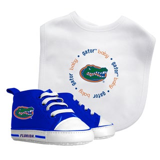 Baby Fanatic Florida Gators Bib and Pre-walker Shoes Gift Set