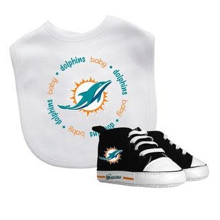 Baby Fanatic Miami Dolphins Bib and Pre-walker Shoes Gift Set