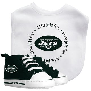 Baby Fanatic New York Jets Bib with Pre-walker Shoes Gift Set