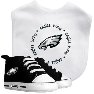 Baby Fanatic Philadelphia Eagles Bib and Pre-walker Shoes Gift Set
