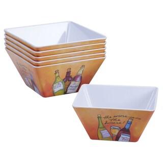 Certified International Wine Picnic 6-inch Ice Cream Bowls (Set of 6)
