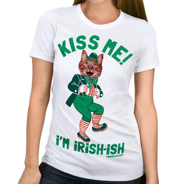 David & Goliath Women's 'Kiss Me Kat' Cat Graphic Tee T-shirt