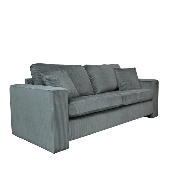 Better Living Jordan Antique Grey Ribbed Velvet Sofa 17112629 Overstock Shopping Great