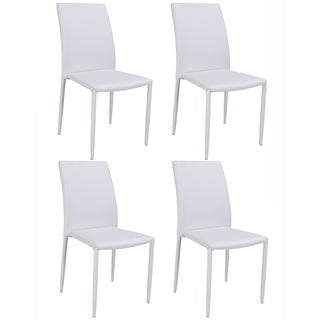 Christopher Knight Home Farrah Grey Fully Upholstered Stackable Side Chair (Set of 4)