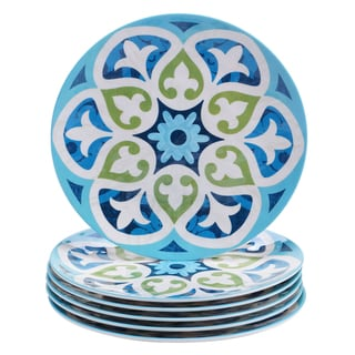 Certified International Barcelona 9-inch Salad/ Dessert Plates (Set of 6)