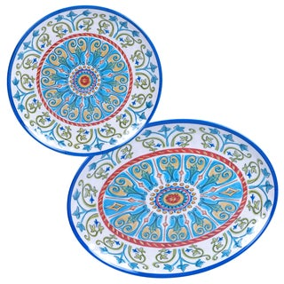Certified International Tuscany Painted 2-piece Platter Set