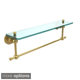 Allie Brass Astor Place Collection Glass Shelf with Towel Bar
